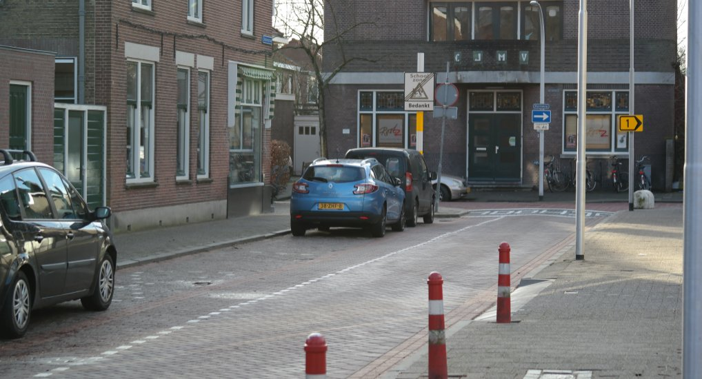 Extra invalide parkeerplaats in het centrum.