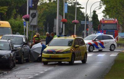 Ongeval rotonde Oostlaan-Meidoornlaan.