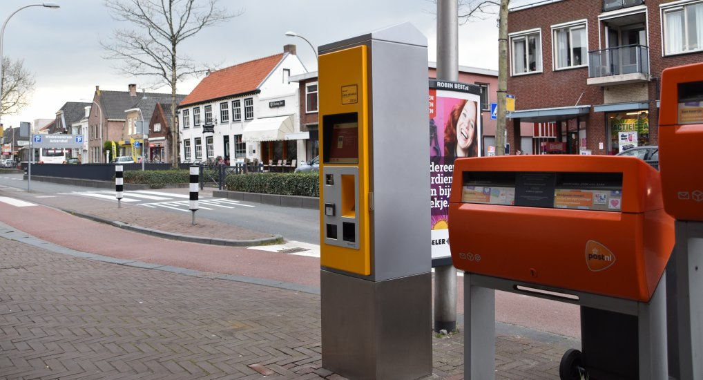 OV chipkaartmachine op Oostlaan.