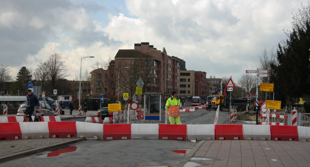 Werkzaamheden Oostlaan in volle gang.