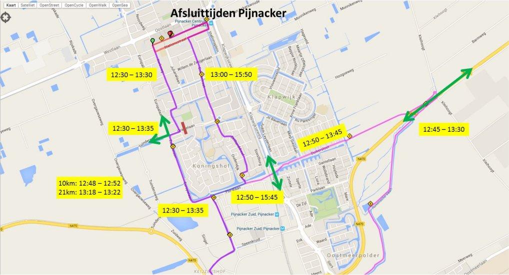 Afsluitingen Oostland Marathon.