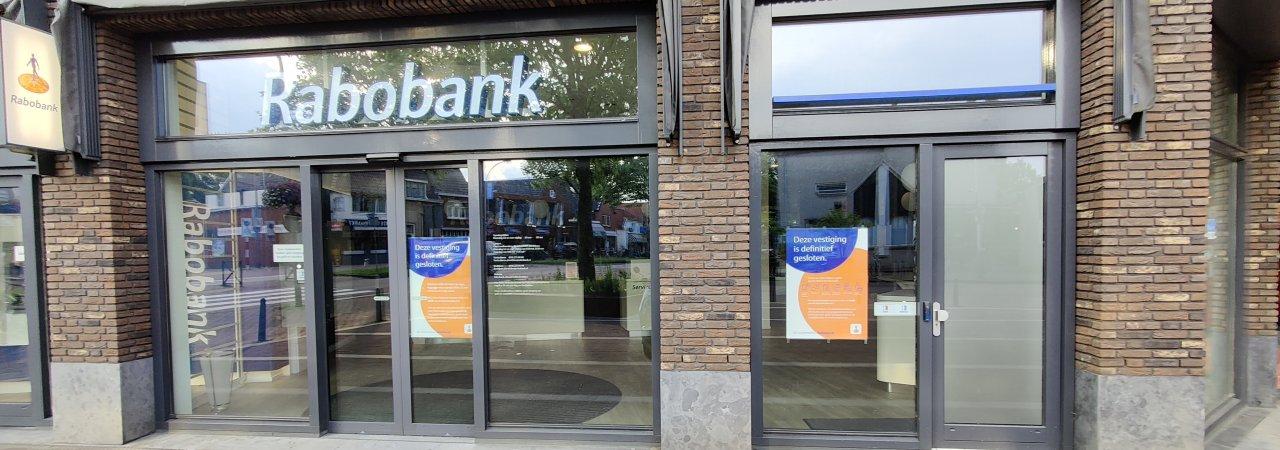Rabobank definitief gesloten.