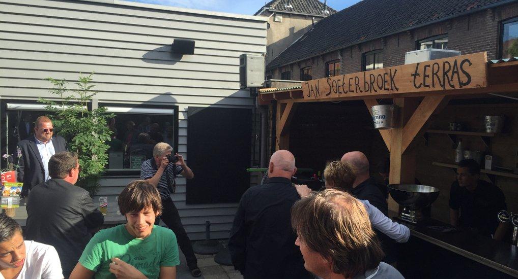 Jan Soeterbroek Terras geopend.