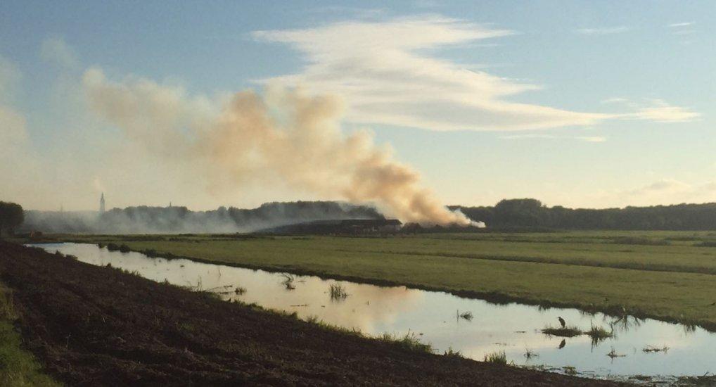 Brand Delfgauw in het centrum te zien.