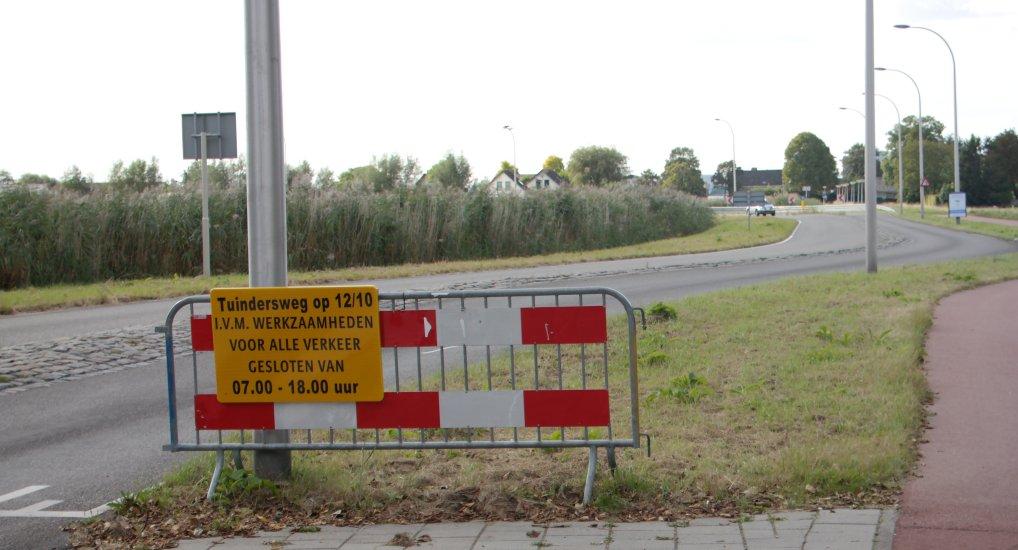 Tuindersweg afgesloten op 12-10-2016
