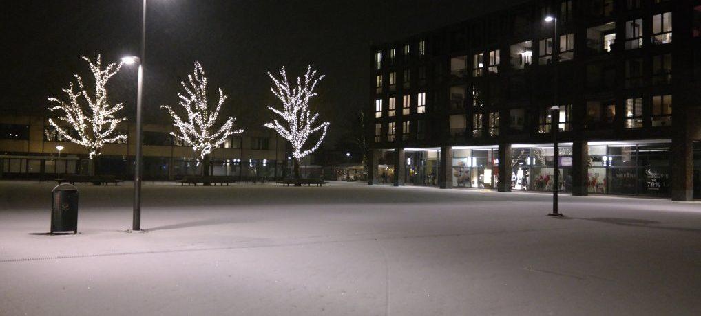 Wintersweer in het centrum.
