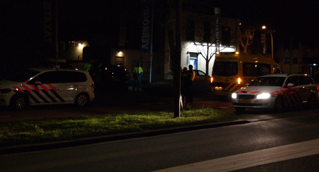 Ongeval verplaatst zich naar parkeerplaats.