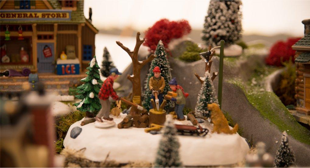 Finale NK Kerstdorpen bouwen.