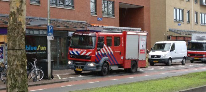 Brandweer oefening op de Oostlaan.