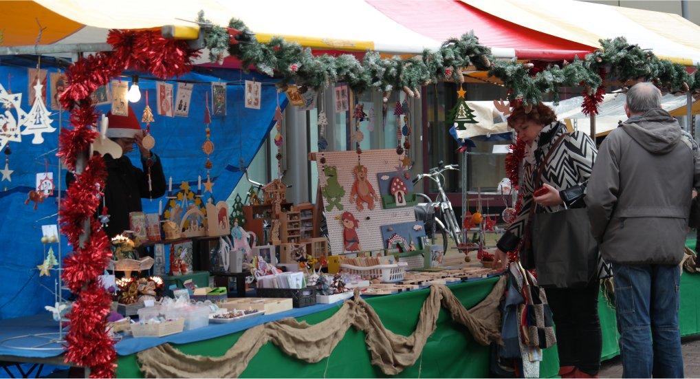 Kerstmarkt winkelcentrum Ackershof.