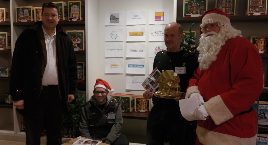 Winnaar NK-Kerstdorpen Rob Wissink.