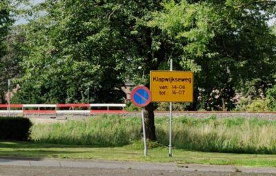 Werkzaamheden Klapwijkseweg.