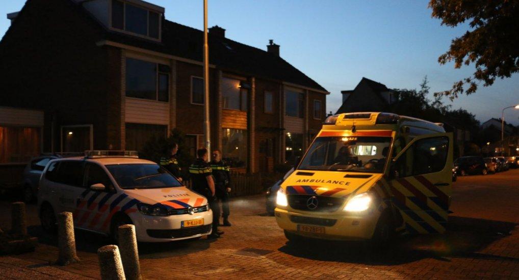 Vechtpartij boven Bakker Oostlaan.