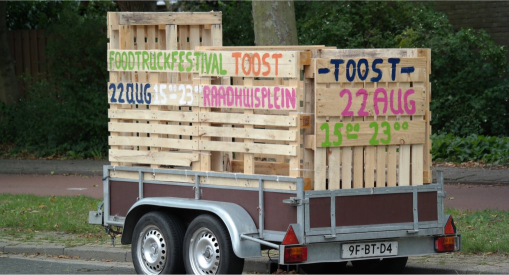 Toost foodtruckfestival Raadhuisplein.