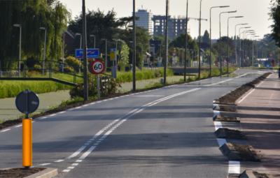 Delftsestraatweg weer open.