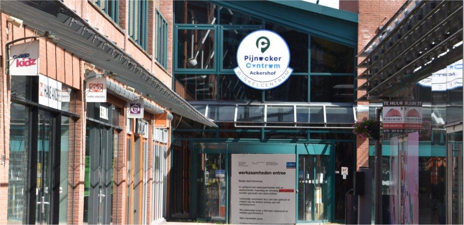 Ackershof1 ingang tijdelijk gesloten.