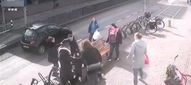 Beelden vechtpartij Oostlaan online.