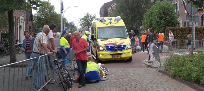 Ongeval tijdens wielerronde.