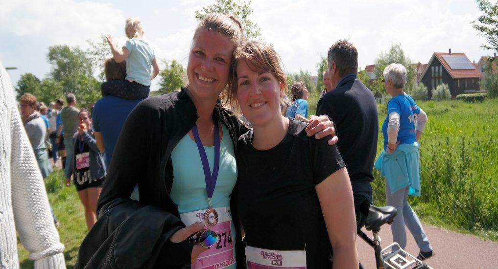 Vliegende Oostland vrouwen run.