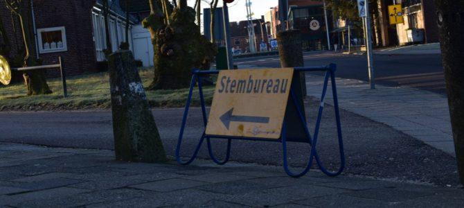 Stembureau's geopend in het centrum.