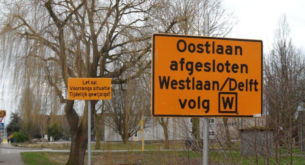 Oostlaan richting Delft afgesloten.