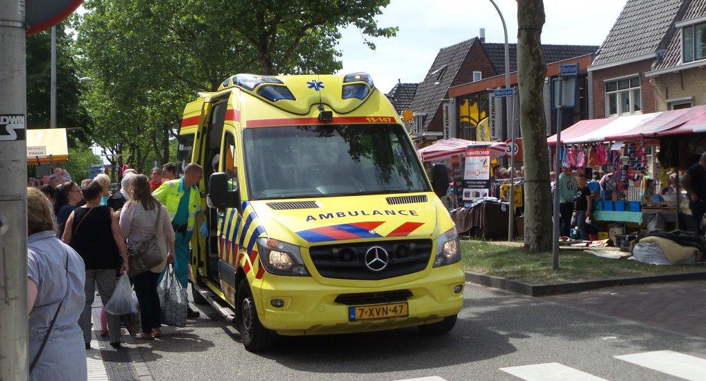 Ambulance tijdens Jaarmarkt.