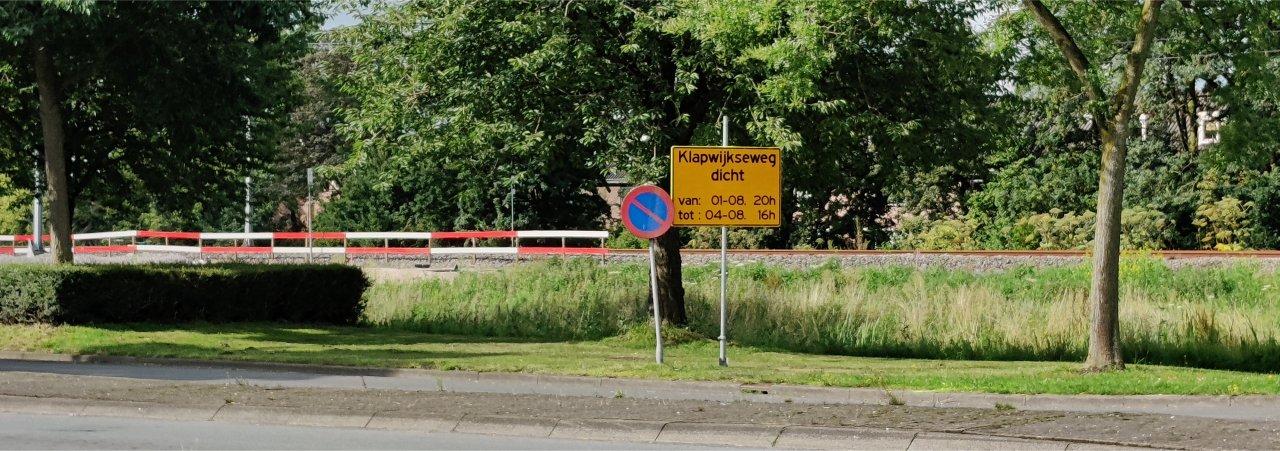Klapwijkseweg afgesloten.