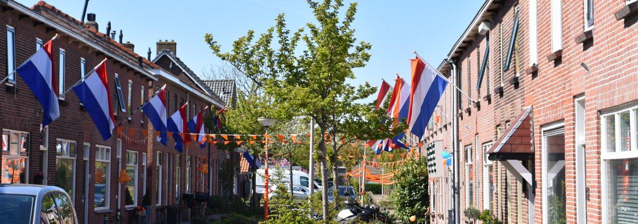 van Brachtstraat viert Koningsdag.