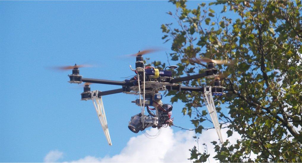 Drone op de Oostlaan Pijnacker.
