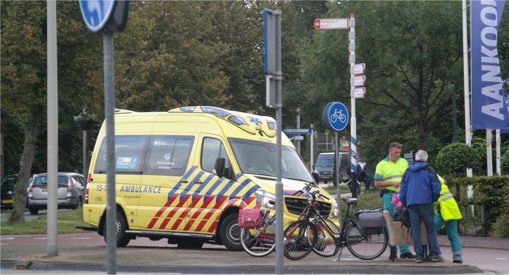 Ongeval rotonde Westlaan.