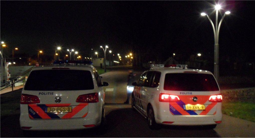 Politie druk in het centrum.