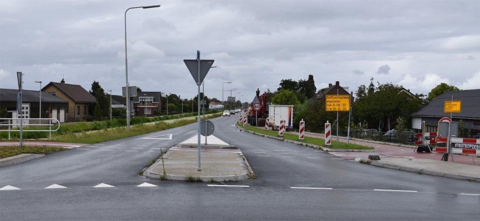 Werk Delftsestraatweg gaat door.