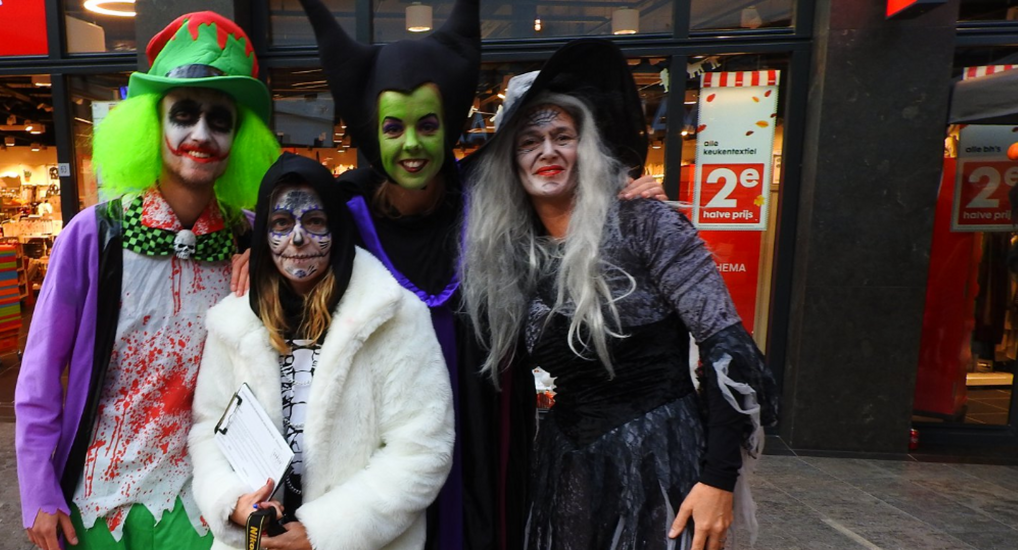 Halloween in winkelcentrum Ackershof.